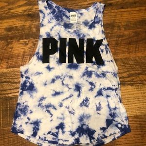 PINK by VICTORIA'S SECRET tie dye muscle tee/tank